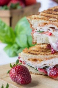 Strawberry, Brie, and Turkey Panini