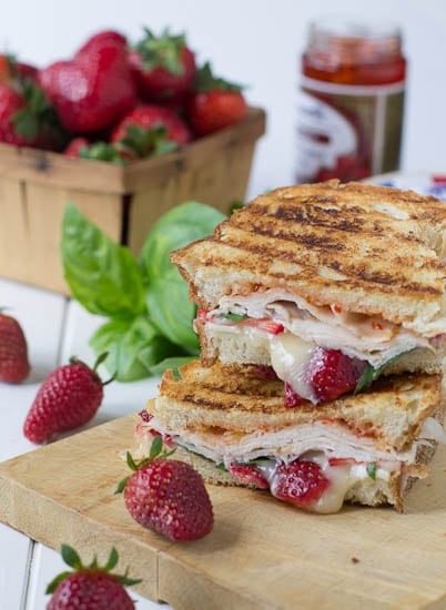 Strawberry, Bire, and Turkey Panini
