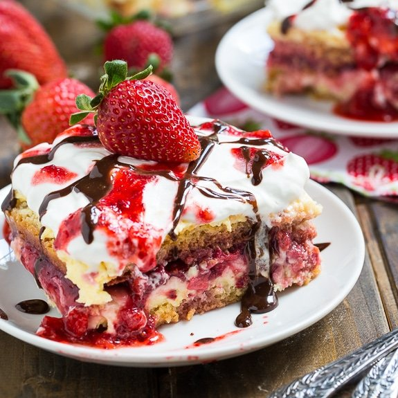 Strawberry lasagna cake recipe