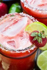Fresh Strawberry Margaritas