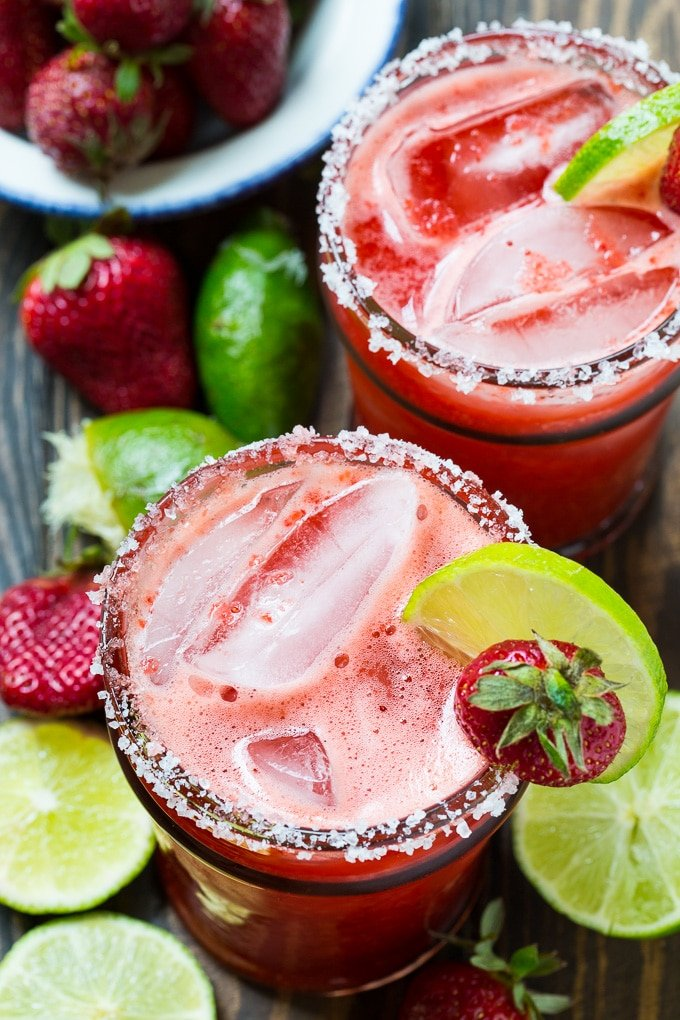 Homemade Fresh Strawberry Margaritas