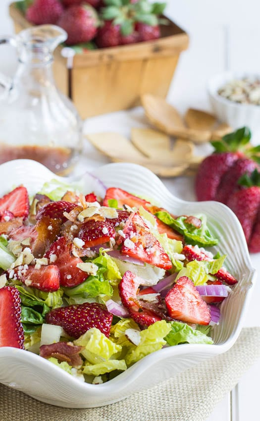 Strawberry, Bacon, and Feta Salad - Spicy Southern Kitchen