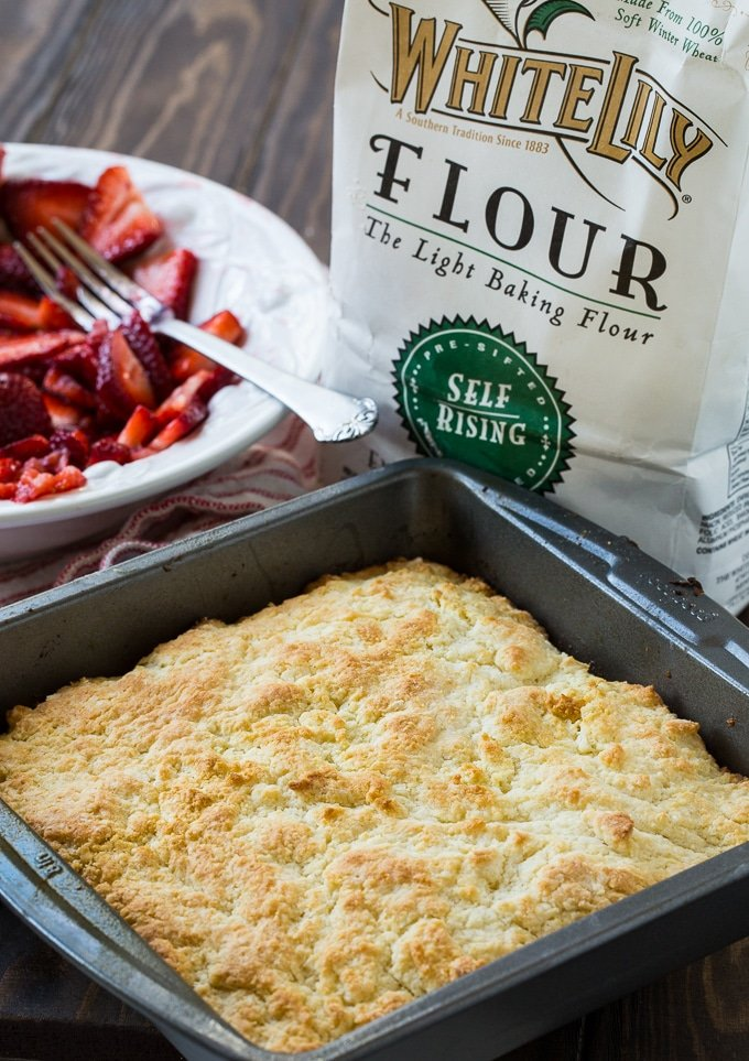 Easy Strawberry Shortcake made with White Lily flour