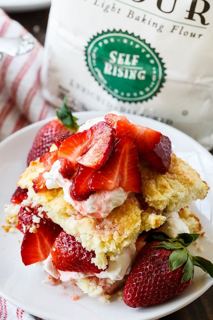 Easy Strawberry Shortcake- no rolling the dough or cutting biscuits!
