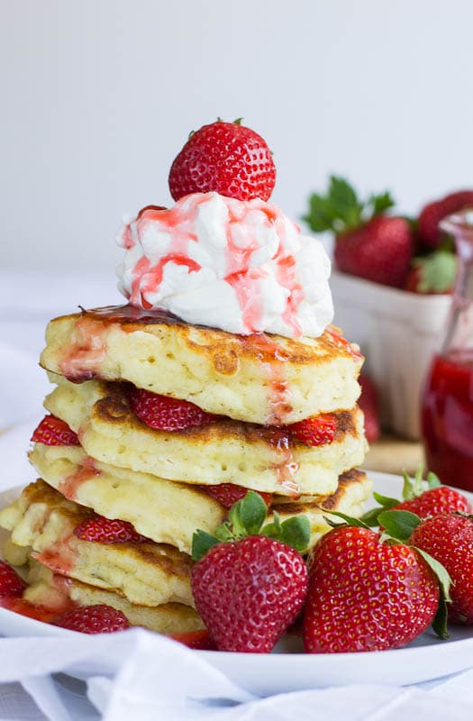 Strawbery Shortcake Pancakes