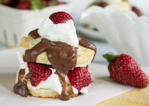 Strawberry Shortcake Biscuits with Chocolate Gravy