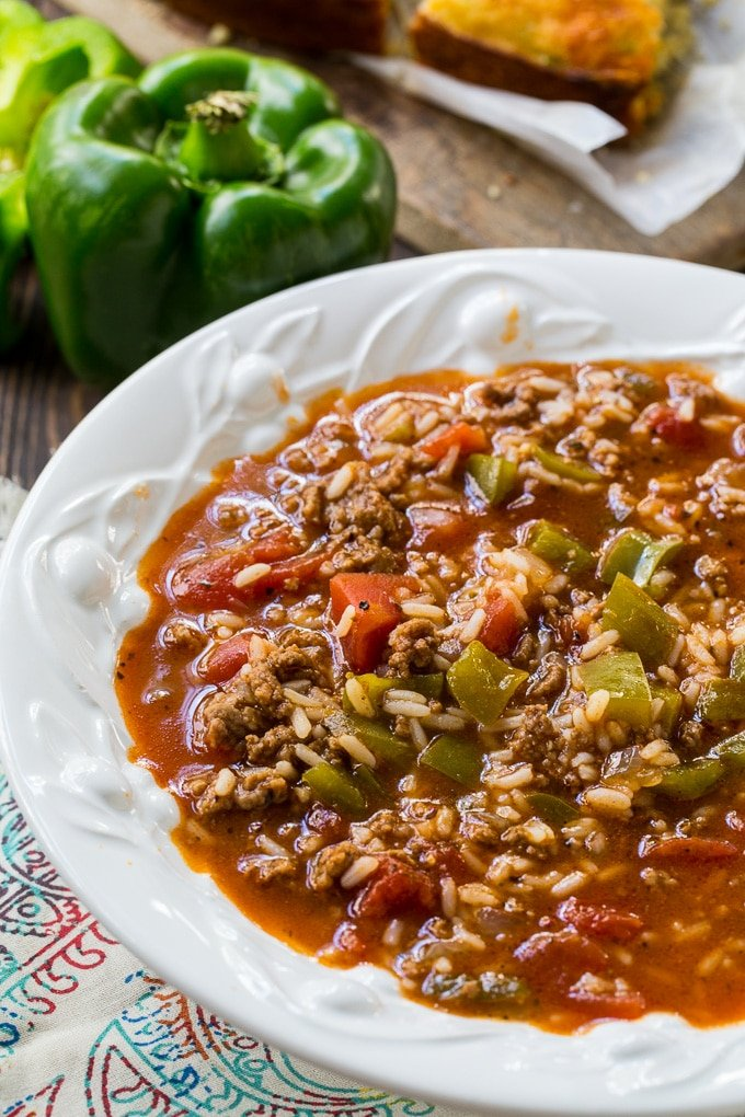 Easy Stuffed Pepper Soup