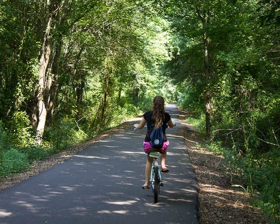 Swamp Rabbit Trail in Greenville