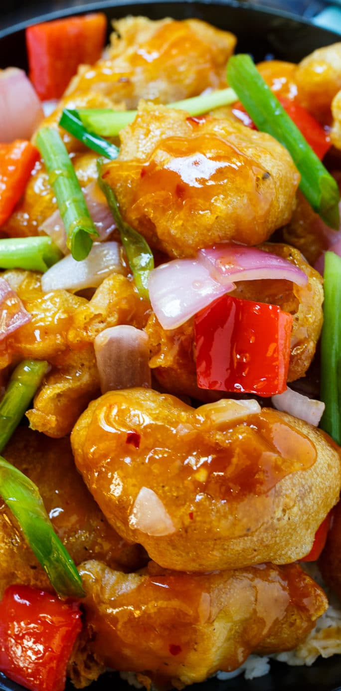 Homemade Sweet and Sour Chicken that tastes better than homemade,. Coated in the perfect batter!