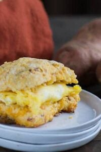 Sweet Potato-Bacon Biscuit