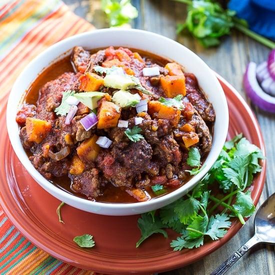 Sweet Potato and Beef Chili #healthy