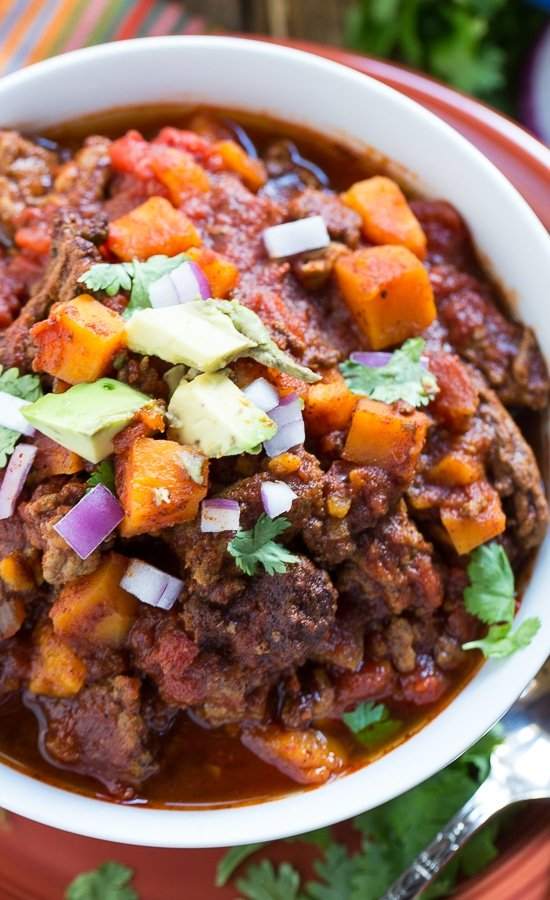 Sweet Potato and Beef Chili #paleo #glutenfree #Whole30
