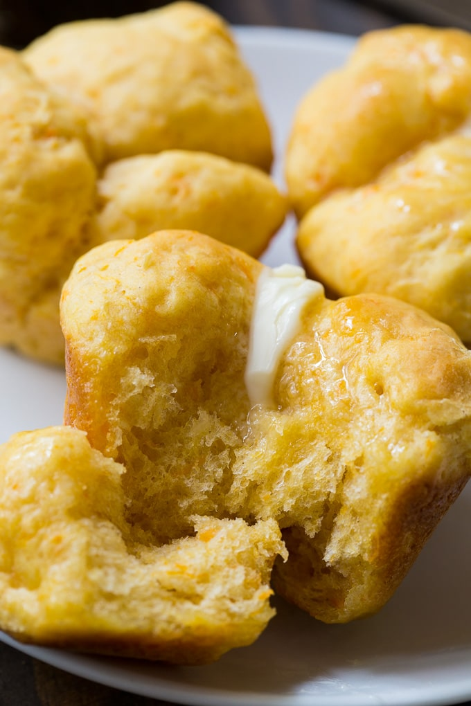 Sweet Potato Cloverleaf Rolls