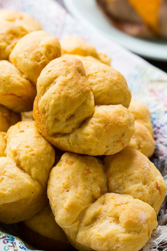 Homemade Sweet Potato Cloverleaf Rolls
