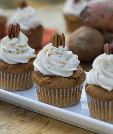 Sweet Potato Cupcakes with Spiced Buttercream - Spicy Southern Kitchen