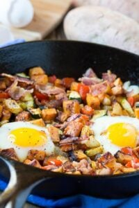 Sweet Potato Hash with Eggs and Bacon