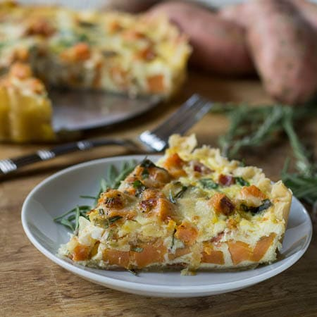 Roasted Sweet Potato Quiche