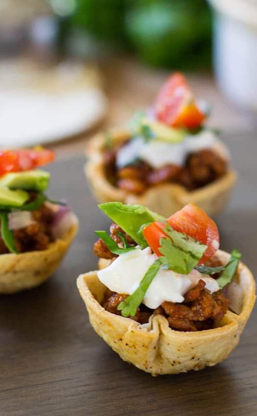 Close-up of Taco Bites.