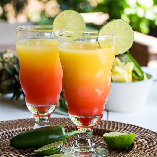 Spicy tequila sunrise spicy southern kitchen for Best tequila for tequila sunrise