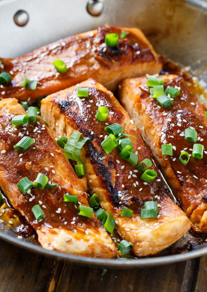 Teriyaki Salmon- quick and easy and makes a great weeknight meal.