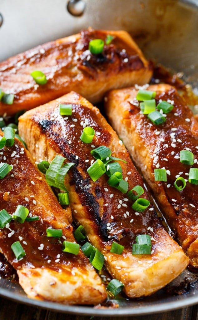 Quick and easy Teriyaki Salmon . Perfect for a weeknight meal.