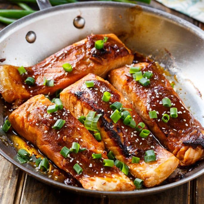 Teriyaki Salmon - Spicy Southern Kitchen