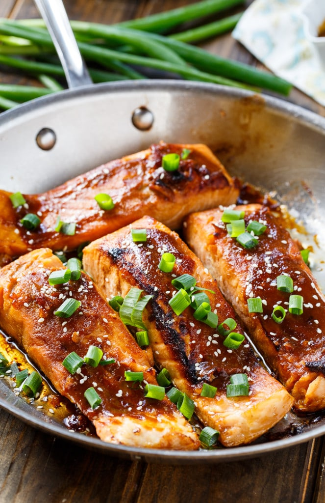 Teriyaki Salmon Spicy Southern Kitchen