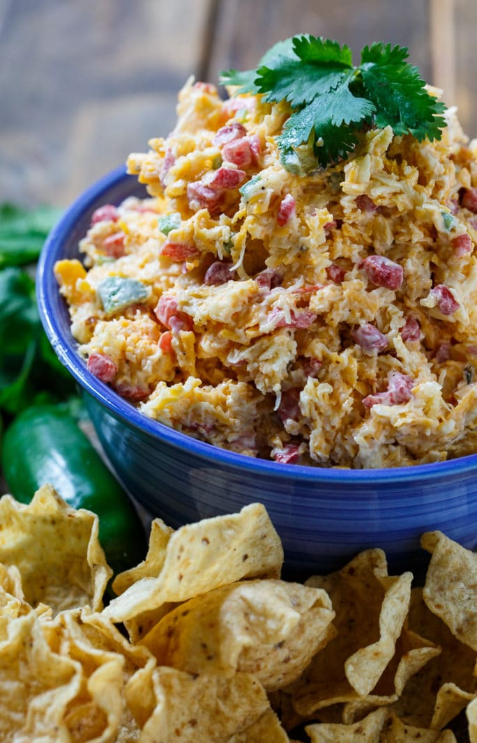 This Tex Mex twist on pimento cheese has southwestern seasonings and jalapenos.
