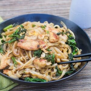Thai-Style Noodles with Chicken and Broccolini