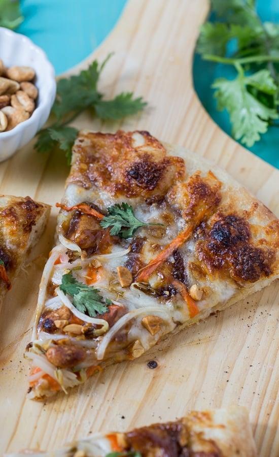 Thai Chicken Pizza - California Pizza Kitchen copycat