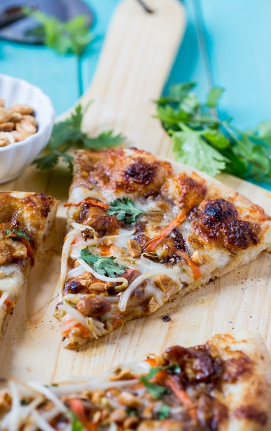 Thai Chicken Pizza - California Pizza Kitchen copycat