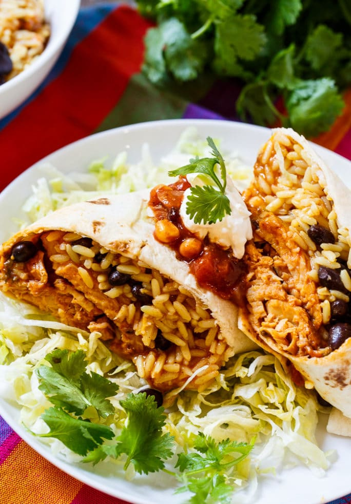 Santa Fe Tilapia Burrito makes a super easy lunch.