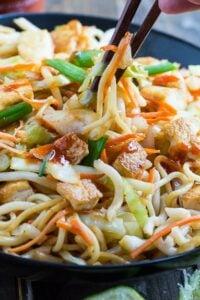 Sriracha Noodles with Tofu