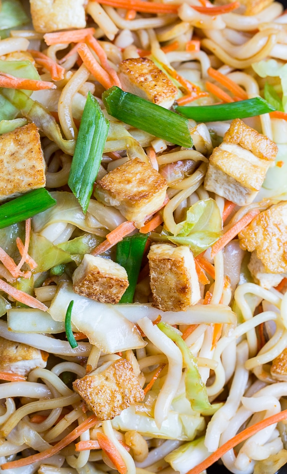 Sriracha Noodles with Tofu #vegetarian