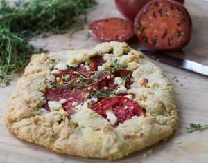 Tomato Galette with Feta