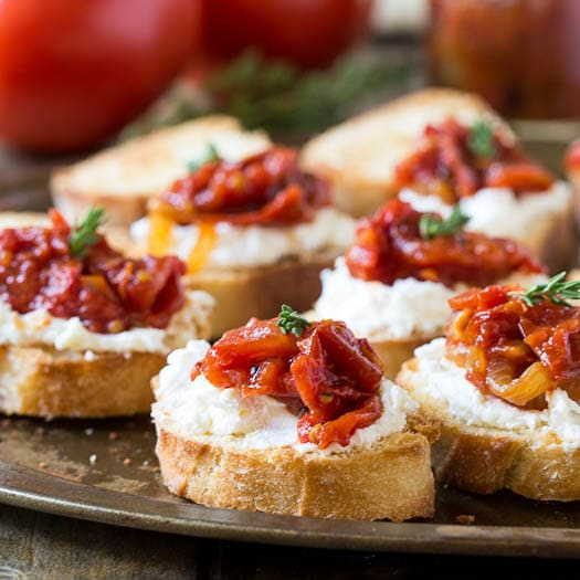 jam crostini save print savory tomato jam and creamy whipped feta ...