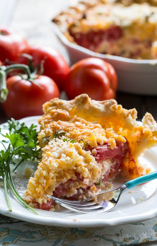 Savory Tomato Pie Recipe- a southern favorite. Juicy summer tomatoes ...