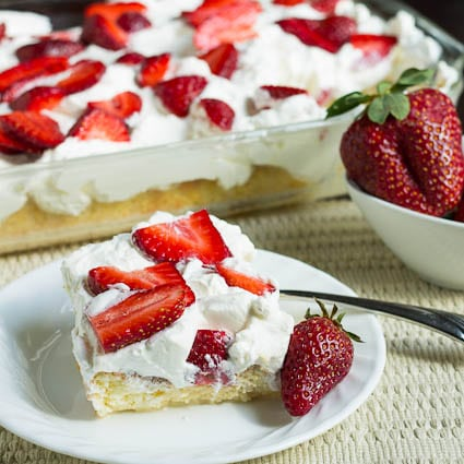 Tres Leches Cake with Strawberries