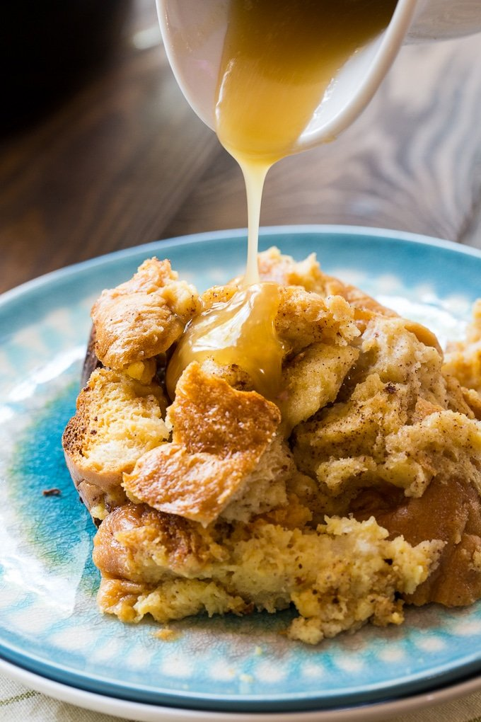 Slow Cooker Tres Leches Bread Pudding