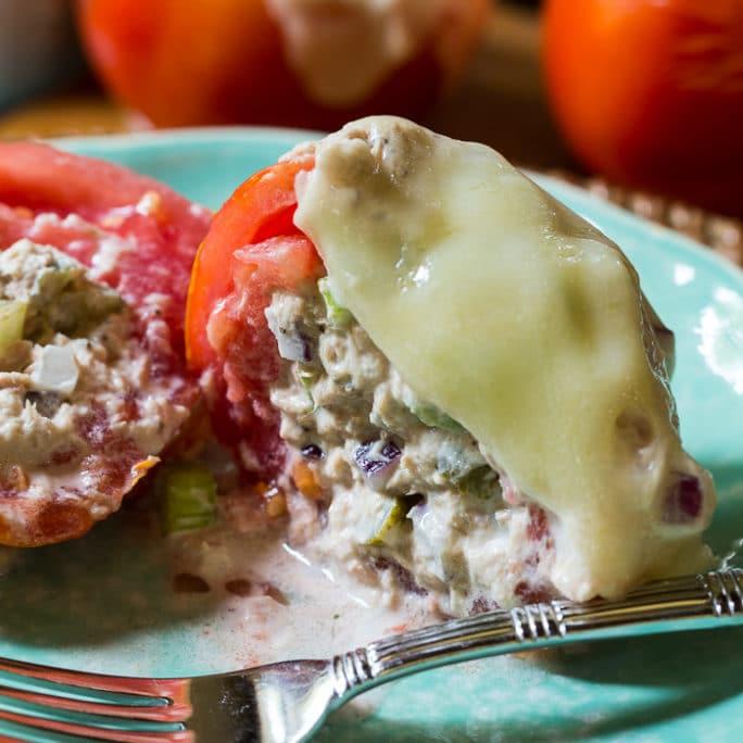 Tuna Melt Tomatoes