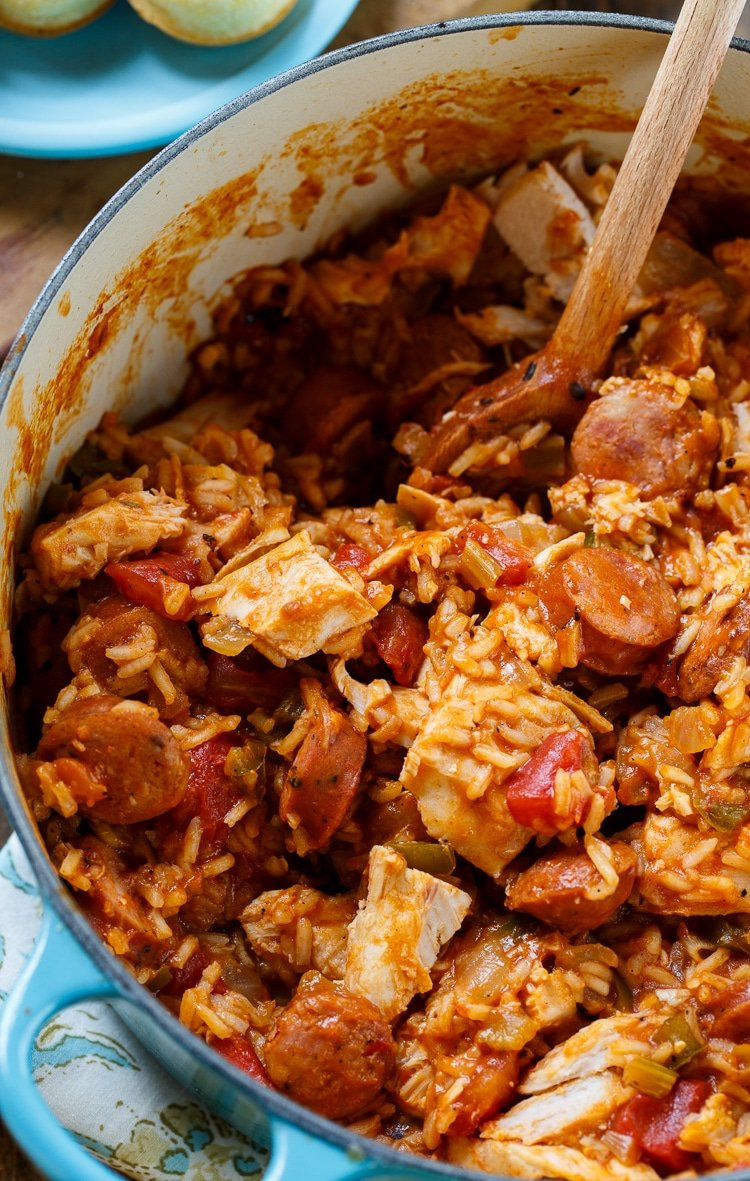 Leftover Turkey Jambalaya #thanksgiving