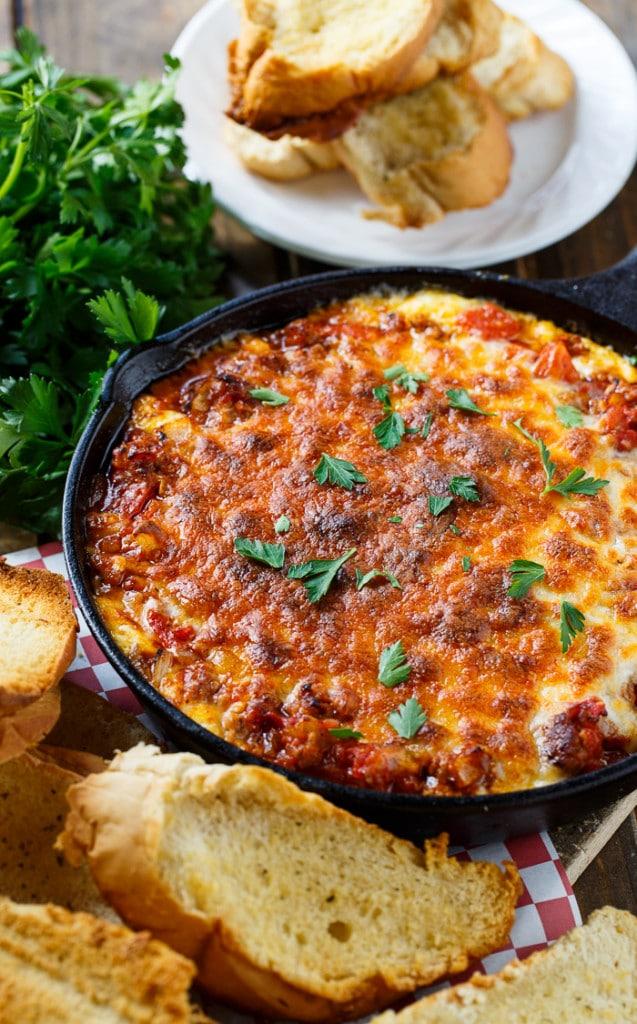Lasagna Dip with Italian sausage
