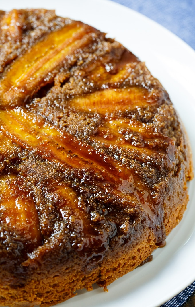 Peanut Butter Banana Upside Down Cake