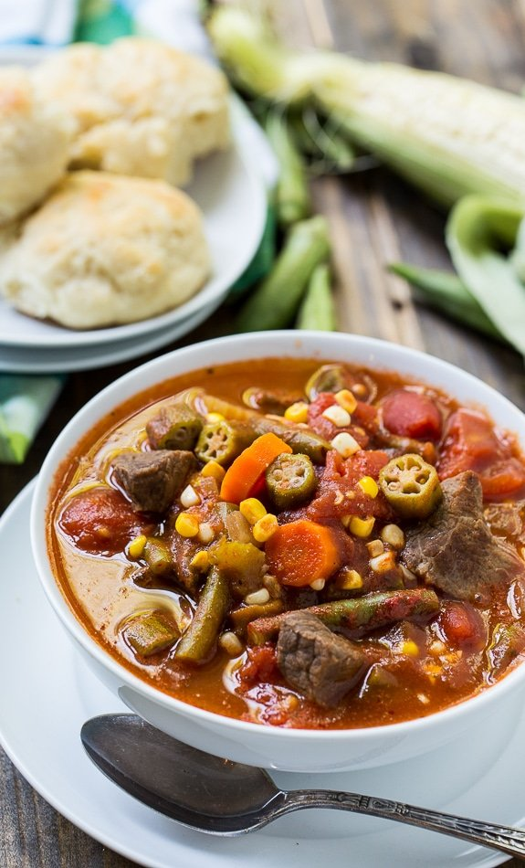 Vegetable Beef Soup - a great way to use up end of summer vegetables. Can be frozen and eaten once the cooler weather sets in.