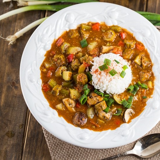 vegetarian gumbo spicy southern kitchen