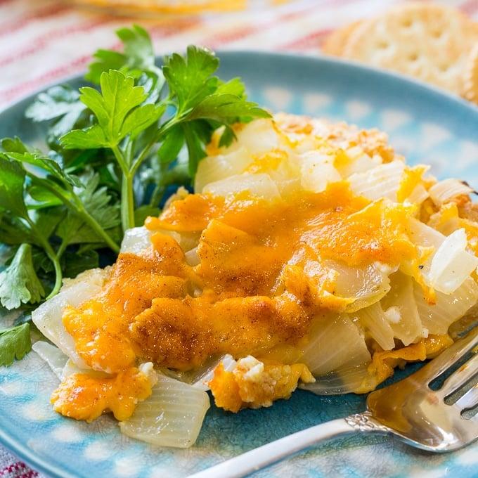 Vidalia Onion Pie with Ritz Cracker Topping