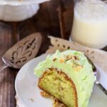 Watergate Cake- a vintage recipe using cake mix and pistachio pudding. Super easy and so easy to make.
