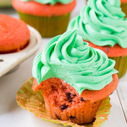 Watermelon Mojito Cupcakes