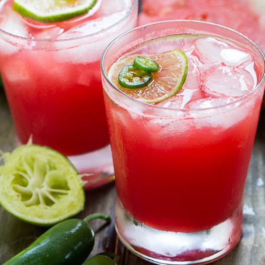 Jalapeno Watermelon Margaritas