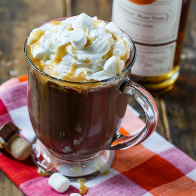 Butterscotch whiskey hot chocolate spicy southern kitchen for Hot tea with whiskey